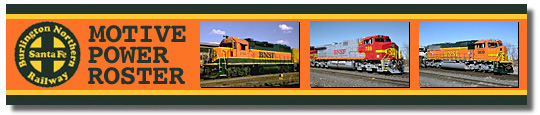BNSF Motive Power Roster